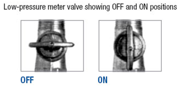 Gas valve positions - Low Pressure